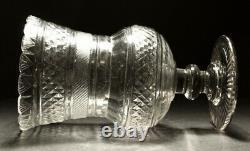 18th Century Georgian Irish Kettle Drum Cut Celery Glass Vase C1800