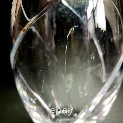 1 (One) TIFFANY & CO SWIRL OPTIC Pattern Cut Lead Crystal 8.5 Vase Signed