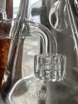 4/20 SALEBUD VASE MATRIX PERC HAND-CUT GLASS WATER PIPE By Purr Smoking