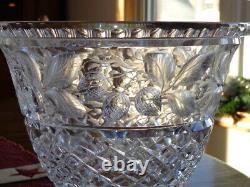 ABP American Brilliant Cut Glass Gravic Cut Fruit Pattern Large Champagne Bucket