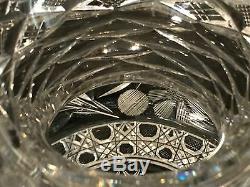 American Brilliant Cut Glass-Center Piece Flower Vase