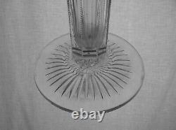 American Brilliant Cut Glass Huge 22 Tall Classic Trumpet Vase Very Imposing