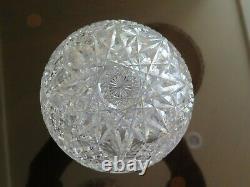 American Brilliant Cut Glass Large Rose Bowl Globe Vase