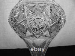 American Brilliant Cut Glass Monumental Sinclaire 17 Vase Stunning Piece
