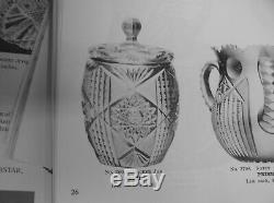American Brilliant Cut Glass Rare J. Hoare Eleanor Pattern Trumpet Vase