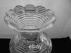 American Brilliant Cut Glass Rare J. Hoare Rookwood Pattern Footed Vase