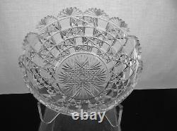 American Brilliant Cut Glass Rare Newton By Mt Washington Bowl 1880's