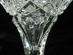 American Brilliant Cut Glass Tassa Vase by Elmira Cut Glass Co. In Pattern 100
