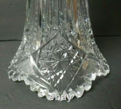 American Brilliant Period Cut Glass 16 Trumpet Vase, c. 1900