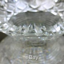 Antique ABP Elmira #67 Cut Glass Rose Bowl Flower Center Vase Step Cut Neck
