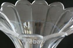 Antique French Cut Glass Crystal Brass Mounted Epergne Centerpiece vase bowl