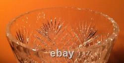 Antique Hawkes Sterling Silver Mounted Cut Crystal Glass Vase Signed