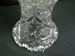 Antique Large 14 ABCG American Brilliant Cut Glass Vase Super Nice
