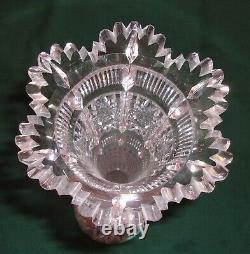 Antique Stunning 12 1/2 ABP American Brilliant Period Cut Glass Trumpet Vase
