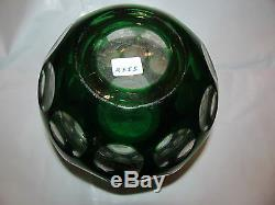 Art Deco Art Glass Cut to Clear Vase Czechoslovakia French