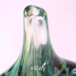 Art Glass A good Maltese Mdina Cut Ice Fish Vase signed Michael Harris 1968 72