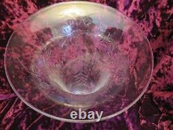Art Nouveau Cut Glass Vase Brass Stand 19th C Flying Angels 14 Pairpoint c1532