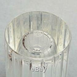 BACCARAT CRYSTAL HARMONIE STRAIGHT VASE WithVERTICAL CUTS 8, SIGNED