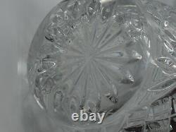 Bohemia Czechoslovakian Vintage Hand Cut Lead Crystal Large Vase by Tom c1900