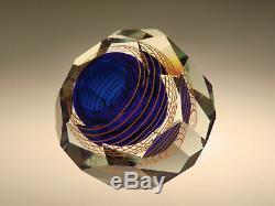 Bohemian Czech Skrdlovice Art Cut Glass Vase by Stanislav Libensky VERY RARE