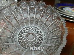 Bohemian Queen Lace Czech Crystal Hand Cut Bowl Vase Pick 1