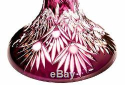 Caesar Crystal Bohemiae Vase Vase Ananas Bohemian Czech Glass Lead Cut New