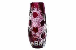 Caesar Crystal Bohemiae Vase Vase Frost Bohemian Czech Glass Lead Cut New