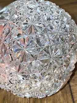 Decanter Antique American Brilliant Period ABP Cut Glass Carafe RARE PATTERN 10