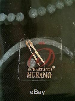 Exquisite Seguso Vetri Murano hand blown/cut glass cup vase 28 inches, Neptune