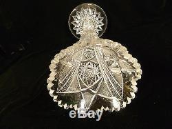 Fabulous American Brilliant Cut Glass Crystal Trumpet Vase Circa 1900