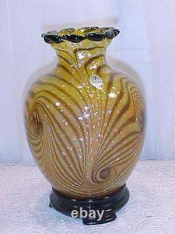 Fenton Art Glass Connoisseur Collection Cut Flowers Vase