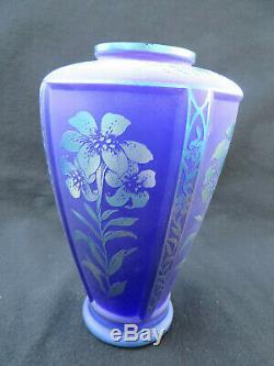 Fenton Connoisseur Collection Favrene Cut-Back Vase Martha Reynolds #1054/1250