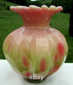 Fenton Glossy Burmese Dave Fetty Cutting Garden #119/500 6.5H HTF RARE