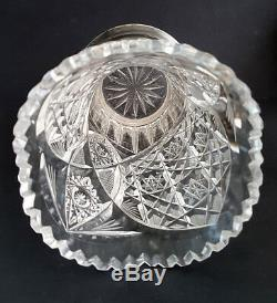Fine & Perfect c1908 Imperial Russian Faberge Silver & Cut Crystal Glass Vase