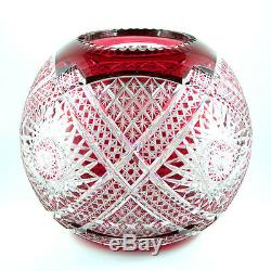 French Cut Crystal Vase Probably BACCARAT