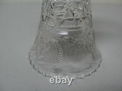 HAWKES American Brilliant Period Cut Glass 7 Trumpet Vase, Signed, c. 1900