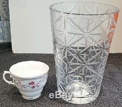 HERMES DESIGNER CRYSTAL Tall Vase Boxed Tam Tam Pattern
