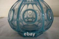 Hand Made Victorian Bohemian Moser Cut Glass Overlay Vase and Cup