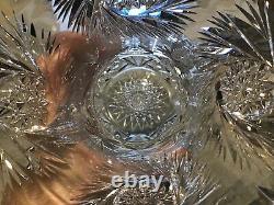 Highest Quality HUGE ABP BRILLIANT CUT GLASS CRYSTAL Bulbous Vase Hobstars 14