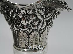 Jacobi & Jenkins Vase American Brilliant Cut Glass ABC & Sterling Silver
