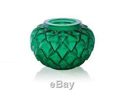 Lalique Crystal, Languedoc Crystal Vase, Green 10488800
