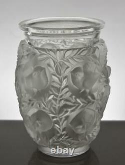 Lalique France Bagatelle Vase Signed Birds. Fauna & Floral Theme Cut Glass