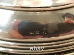 Large Antique Cut Glass & Signed Sterling Silver Austro-Hungarian Vase