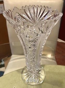 Large Stunning ABP Brilliant Period Cut Glass Vase
