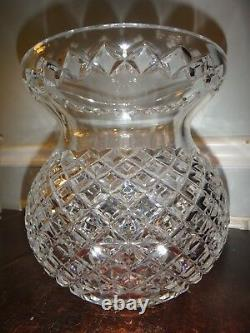Large Waterford Cut Crystal Corset Flower Vase Master Cutter 9 Bulb Pineapple