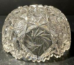 Libbey American Brilliant Period Cut Glass Bowl Scarce