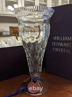 New in Box William Yeoward Kathleen Cut Crystal Hand Etched 10 Vase Rare