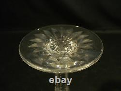 Nice American Brilliant Period (abp) Cut Glass Trumpet Vase, Notched Stem