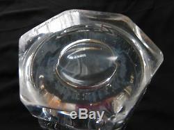 Orrefors Vicke Lindstrand Dancing Nude Cut Crystal Glass Vase, Signed