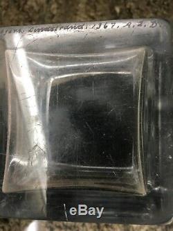 Orrefors Vicke Lindstrand Female Nude Aphrodite Cut Crystal Glass Vase, Signed